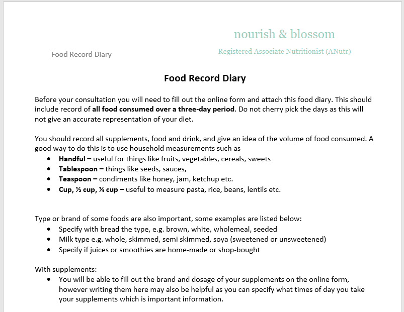 example of diary